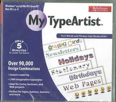 My Type Artist, Fonts & Text, PC & MAC, Logos, Buttons, Banners, 1000+ Styles