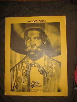 BILL COSBY LIVE PERFORMANCE at Whiskey A Go Go ADVERTISING POSTER 1967