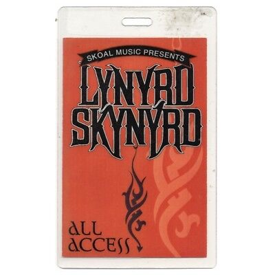 Lynyrd Skynyrd authentic 1994 Laminated Backstage Pass Endangered Species Tour