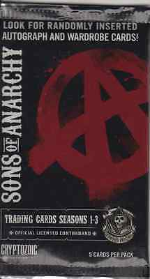 Sons Of Anarchy seasons 1-3 trading cards hobby (5)  pack lot