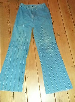 Vintage 1970's Brittania Blue Jeans Bell Bottoms  Flared 28X34 100% cotton