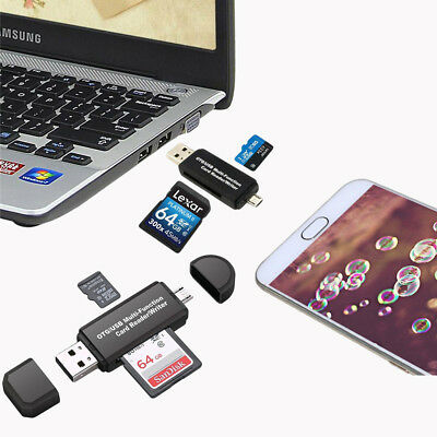 Micro USB OTG to USB 2.0 Adapter SD/Micro SD/Card Reader with Standard USB