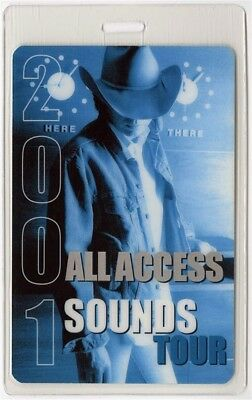 Dwight Yoakam authentic 2001 concert Laminated Backstage Pass Sounds Tour