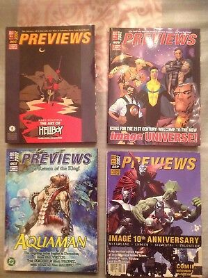 PREVIEWS THE COMIC SHOP'S CATALOG All issues for 2002  VF/NM ( lot 12 )