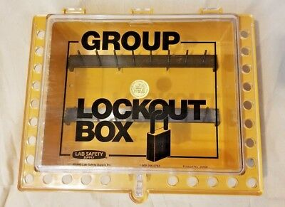 Group Lockout Box Lab Safety Supply 26958 Lockout Tagout 26 Locks 16 Keys