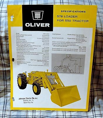 Vintage Oliver Corporation 550 Tractor Specifications Brochure - Ca 1963!