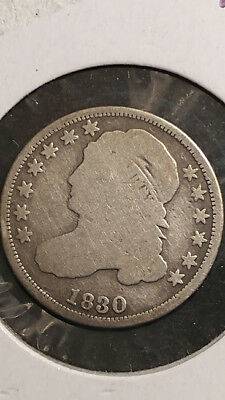 1830 Capped Bust Dime Slightly rotated reverse