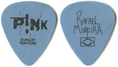 Pink Rafael Moreira authentic band issued 2004 Try This tour stage Guitar Pick
