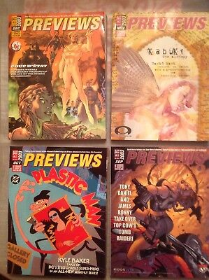 PREVIEWS THE COMIC SHOP'S CATALOG All issues for 2003  VF/NM ( lot of 12 )