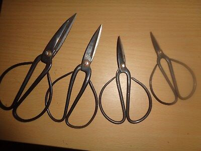 Vintage Lot Of Four Pairs Of Unique Scissors Rare  Sharp  Collector Item