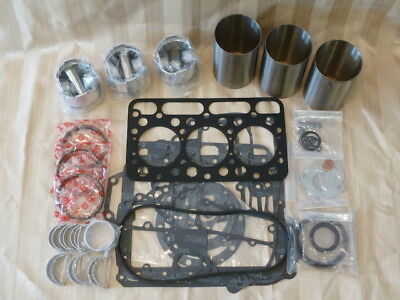 Kubota D1402 Overhaul Kit / Liners, Pistons, Rings, Bearings, Gasket Set
