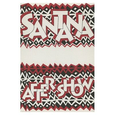 Santana authentic 1992 Milagro Tour satin Backstage Pass after show red