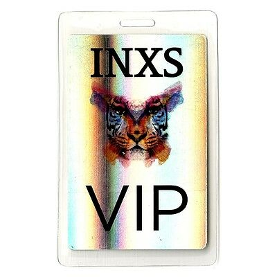 INXS authentic 2010 concert Laminated Backstage Pass Original Sin Tour foil