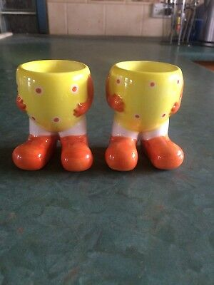 Pair of Novelty Egg Cups with Legs