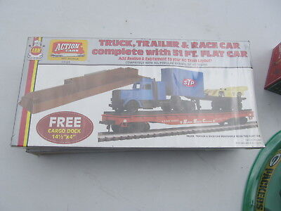 Vintage AHM Action Cars Track Trailer Race & Flat Car SEALED NEW