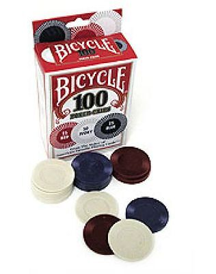 Poker Chips 100 Bicycle Casino Games Poker Magic Tricks  Stack Durable Washable