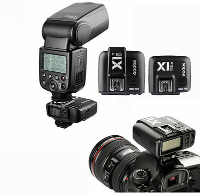 Godox X1C 2.4GHz E-TTL Wireless Flash Transmitter Trigger+Receiver Set for Canon