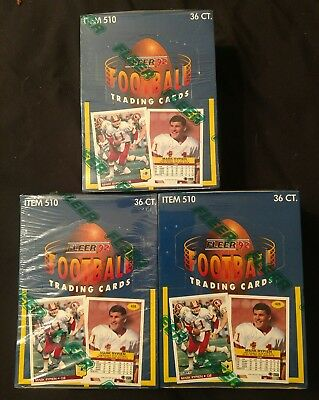 3 Lot 1992 Fleer Football Factory Sealed Boxes!! Free Shipping!!