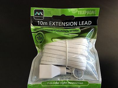 10m Extension Lead Telephone - New
