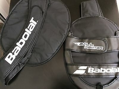 TWO Babolat Ball Fighter tennis racket cover tennis backpack - Black