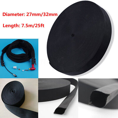 25ft Nylon Protective Sleeve Sheath Cable Cover Welding Tig Torch Hose 27/32mm