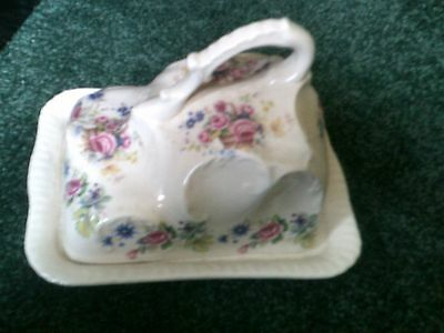 Victorian Cheese Dish, Antique Victorian  Porcelain/China Cheese Dish