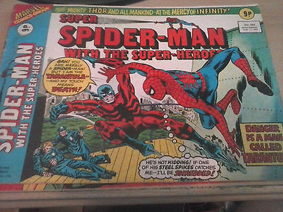 Spider-Man With The Superheroes – 4 Vintage Comics! Cool!!!