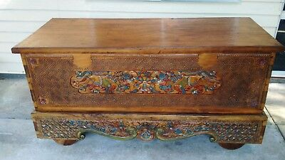 Large Wooden Antique Dowry/Rice Chest - Excellent Condition