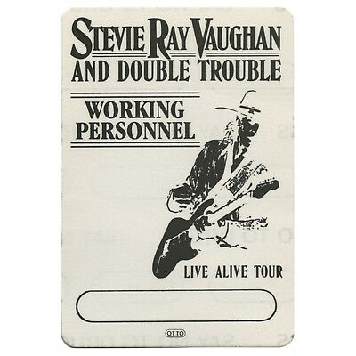 Stevie Ray Vaughan authentic 1986 Live Alive tour satin Backstage Pass otto