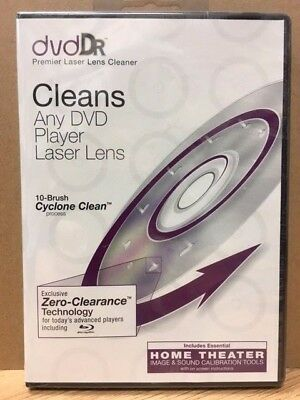 NEW DVD Dr Premium Laser Lens Cleaner Including Blu-ray Players