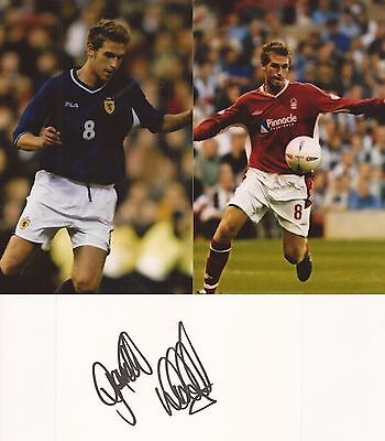 N.FOREST & SCOTLAND: GARETH WILLIAMS SIGNED 3x5 WHITECARD+2 UNSIGNED PHOTOS+COA