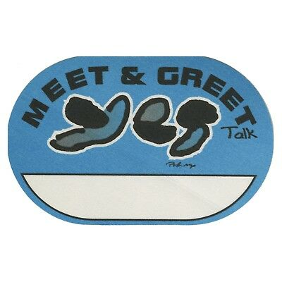 Yes authentic 1994 Talk Tour satin cloth backstage pass band Meet & Greet blue