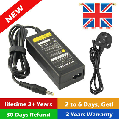 For Samsung Q330 R540 RV510 RV511 Laptop Adapter Charger Power Supply + Cord UK