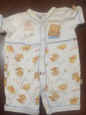 Baby Boy's Winnie the Pooh all in one short suit. Size 000