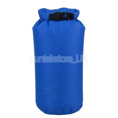8L Waterproof Dry Storage Bag Sack Pouch Canoe Swimming Camping Beach Blue