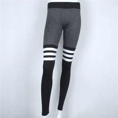 Womens Yoga Fitness Leggings Running Gym Stretch Sports Trousers Exercise J012