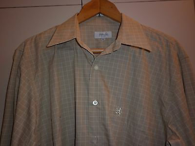 Vintage Pringle Scotland Cotton Ls Shirt Size L Excellent Condition