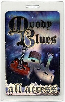 Moody Blues authentic 2000's concert tour Laminated Backstage Pass ALL ACCESS
