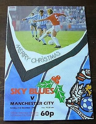 Coventry City  V  Manchester City 1986-87