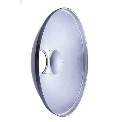 """Glow 17"""" Silver Beauty Dish for Hensel Mount #GLBD17SHS"""