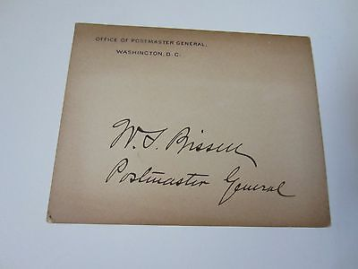 Wilson S. Bissell autographed Postmaster General card