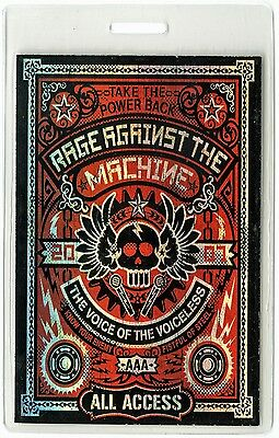 Rage Against the Machine authentic 2007 Laminated Backstage Pass Reunion Tour AA