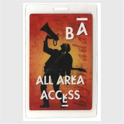 Bryan Adams authentic 2000's concert tour Laminated Backstage Pass ALL ACCESS