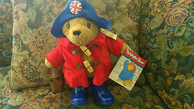 Paddington Bear Classic w/ Boots Plush cuddly toy Rainbow Designs w/  UK Badge