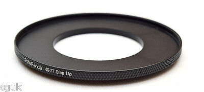 FotoPanda 46mm to 77mm 46 77 Step Up Filter Ring Adapter High Quality Aluminium