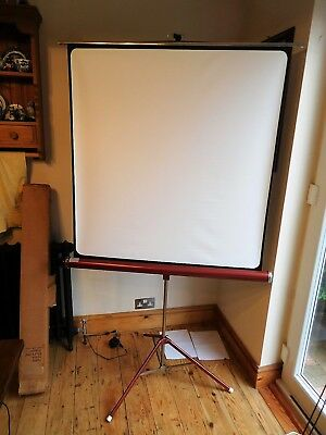 Found* Boxed Portable Adjusting Tripod Film Projector Screen