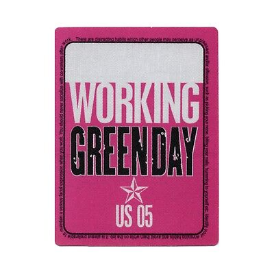 Green Day authentic 2005 American Idiot Tour satin Backstage Pass crew pink
