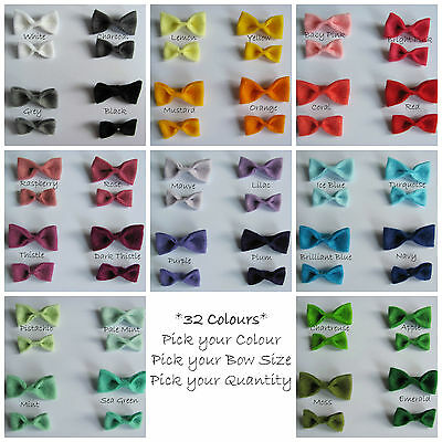 Handmade Felt Bows **Pack of 10** Embellishments, Scrapbooking, Sewing, Crafts
