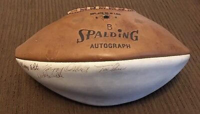 1968 Georgia Bulldogs Team signed Football autographed 40+ Members