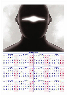 The Day The Earth Stood Still - 2018 A2 POSTER CALENDAR ***BUY 1 GET 1 FREE***